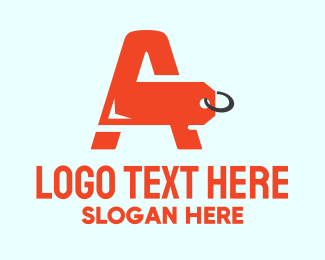 Hangtag - Orange Price Tag Letter A logo design