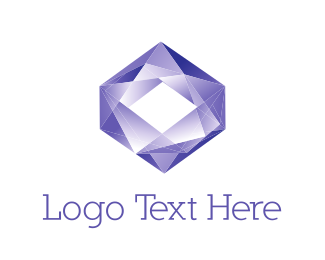 Jewel - Purple Diamond logo design