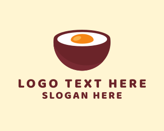 Japanese Restaurant - Egg Bowl logo design