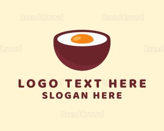 Soup - Egg Bowl logo design
