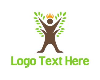 Queen - Tree King logo design
