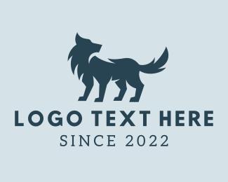 Coyote - Wild Wolf Dog logo design
