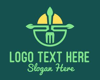 Salad Restaurant - Sunshine Fork Restaurant  logo design