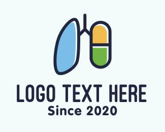 Respiration - Respiratory Lung Medicine Capsule logo design