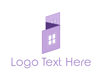 Cleaning - Purple House logo design