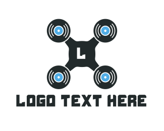 Plaque - Vinyl Drone logo design