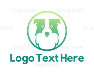 Pet Care - Green Dog Badge  logo design