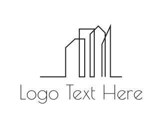 Skyscraper - City Outline logo design
