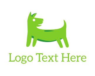 Dog Sitting - Green Dog logo design
