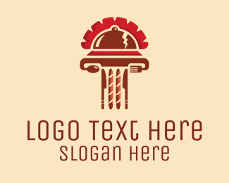 Italian - Roman Food Restaurant logo design