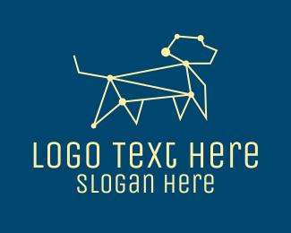 Constellation - Geometric Dog Constellation  logo design