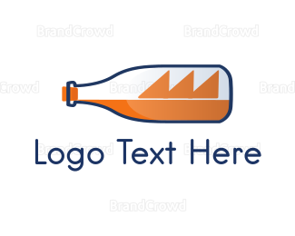 Hobby - Bottle & Ship logo design