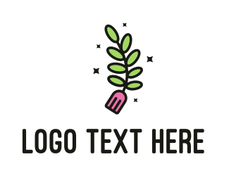 Meal - Fork Fern logo design