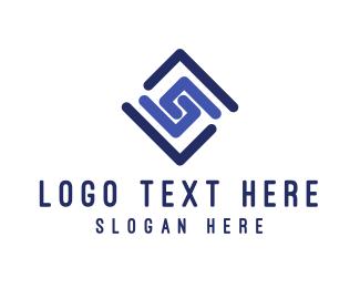 Diamond - Spiral Diamond logo design