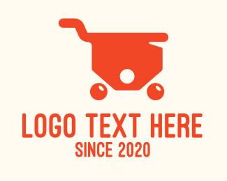 """Orange Price Tag Cart"" by SimplePixelSL"