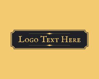Hospitality - Antique Elegant Wordmark  logo design