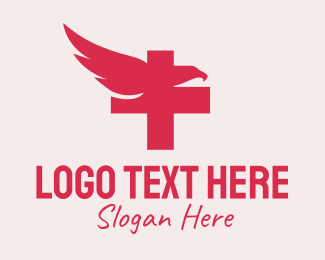 Pharmacology - Eagle Cross Medical logo design