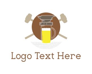 Pub - Anvil & Beer logo design