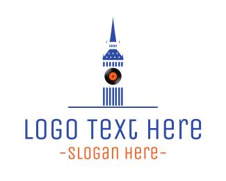 England - London Record logo design