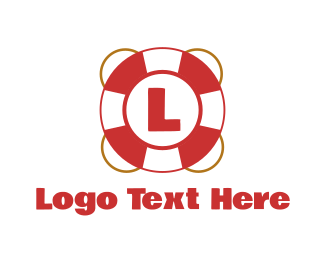 Life Saver - Lifeguard Float Letter logo design