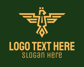 Authority - Eagle Army Crest logo design