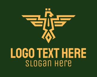 Clan - Eagle Army Crest logo design