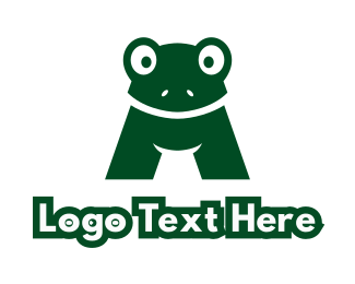 Amphibian - Green Toad A logo design