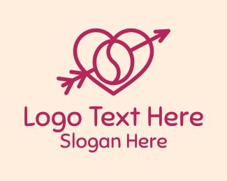 Cardiology - Coffee Cupid Heart logo design