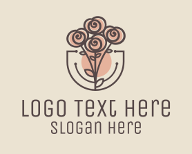 Bouquet - Rose Bouquet logo design