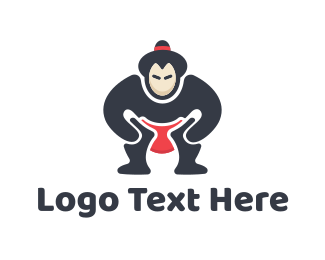 Fight - Sumo Wrestler logo design