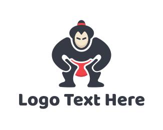 Asian - Sumo Wrestler logo design