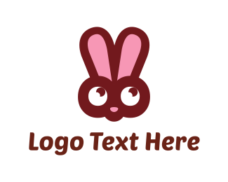 Play - Pink Bunny logo design