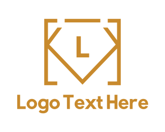 Gold Box - Diamond Code Lettermark  logo design