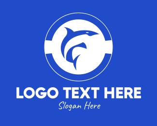 Dolphin Badge Logo