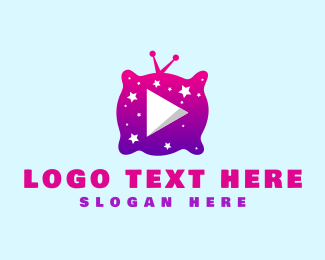 Starry - Starry Night Media Player logo design