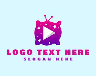 Tv Show - Starry Night Media Player logo design