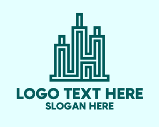 Structure - Modern City Structure logo design
