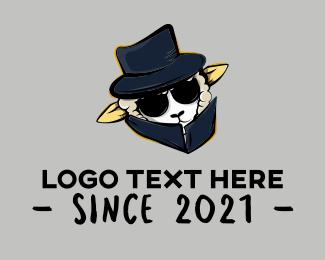 Sunglasess - Secret Agent Sheep logo design