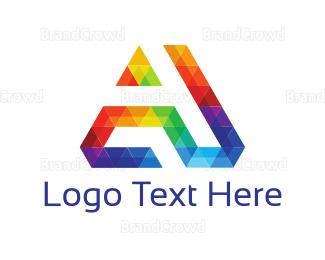 Exhibition - Diamond Letter A logo design