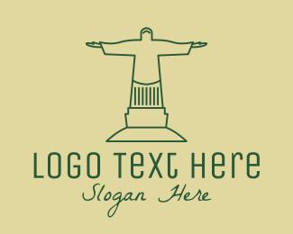 Pastoral - Green Human Statue  logo design