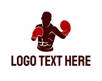 Athlete - Professional Boxer Athlete logo design