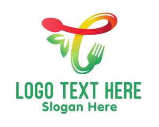 Jamaican - Food Meal Letter T logo design