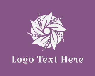 Pearl Flower Logo Maker