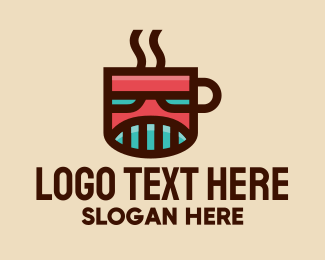 Coffee Maker - Robot Coffee Mug  logo design