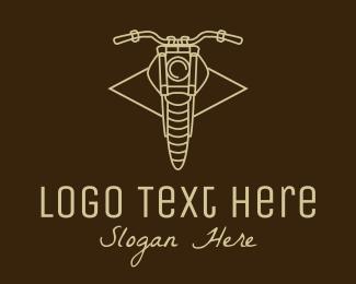 Bike Repair - Vintage Motorcycle Line Art  logo design