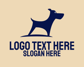 Boston Terrier - Alert Bue Dog logo design