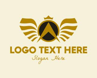 Arrowhead - Luxurious Wings Letter A  logo design