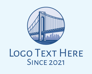 New York City - New York Bridge logo design