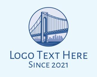 New York - New York Bridge logo design