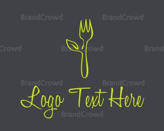 Organic - Organic Green Fork logo design